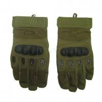 Перчатки тактические, с пальцами Oakley, зеленые