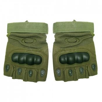 Перчатки тактические беспалые Oakley, зеленые
