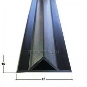 Профиль редан для надувных лодок ПВХ, черный