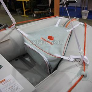 Сумка-рундук носовая светло-серая с креплениями, Для надувных лодок Kolibri