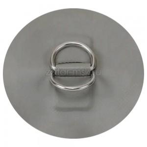 Рым кольцо для лодки D-образное 2 двойное №1.5 Серый