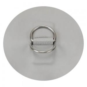 Рым кольцо для лодки D-образное 2 двойное №1.5 Светло-серый