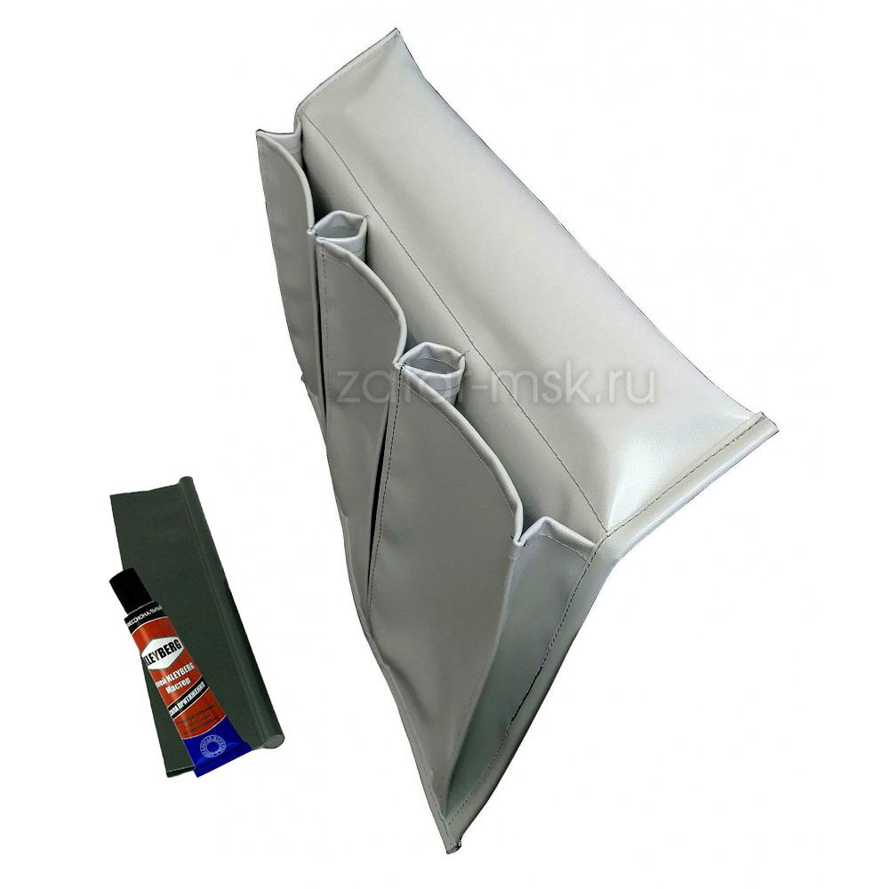 Карман для лодки на ликтрос, 3 отсека, №1.5 Серый + крепления