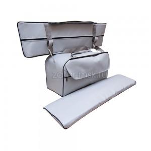 Комплект 65х20 накладки на лодку + сумка под банку (2+1) ПВХ
