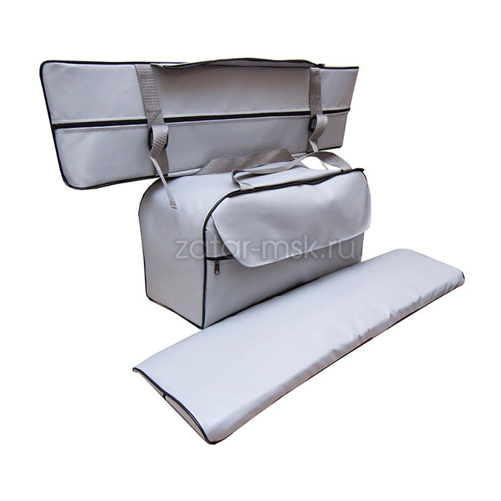 Комплект 75х20 накладки на лодку + сумка под банку (2+1) ПВХ