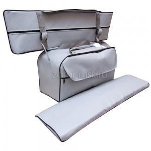 Комплект 85х20 накладки на лодку + сумка под банку (2+1) ПВХ