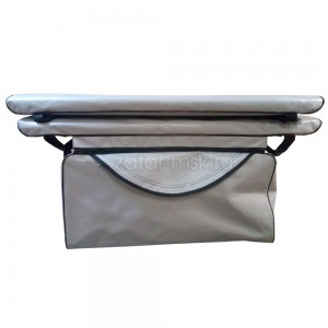 Комплект 90х24 накладки на лодку + сумка под банку (2+1) ПВХ