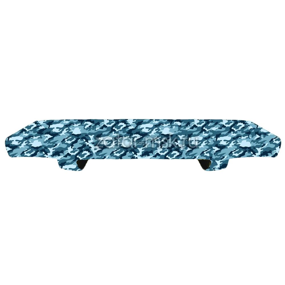Накладка на сиденье лодки 80х20 камуфляж Зима