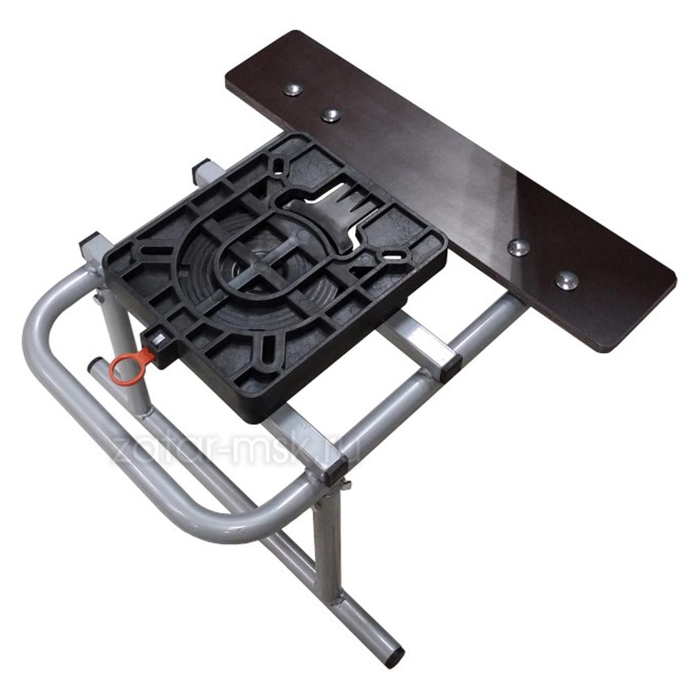 Опора для кресла в лодку №1.4 с поворотной платформой, ликтрос