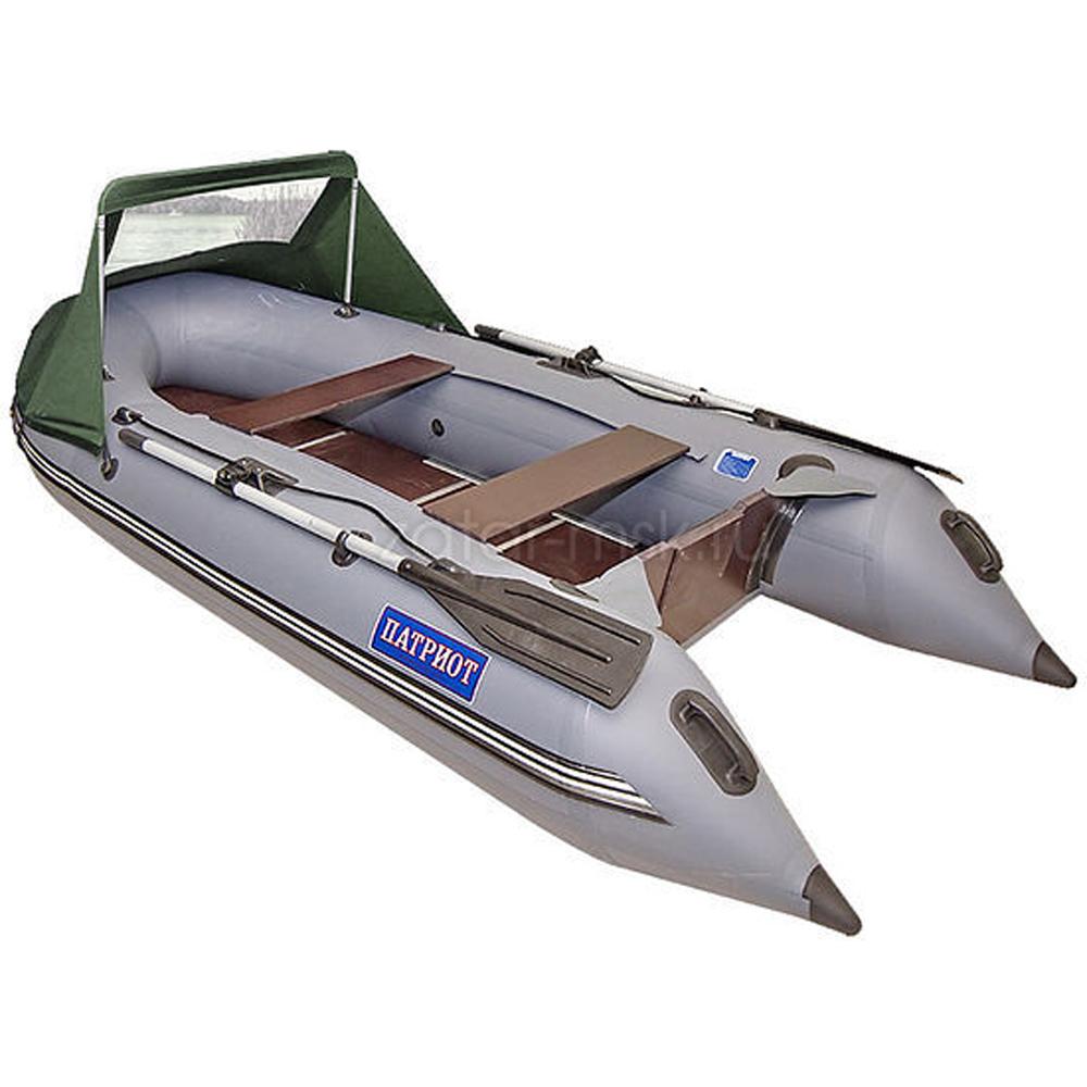Носовой тент на лодку 300-325, олива №1.4 ходовой (крючки - привал)