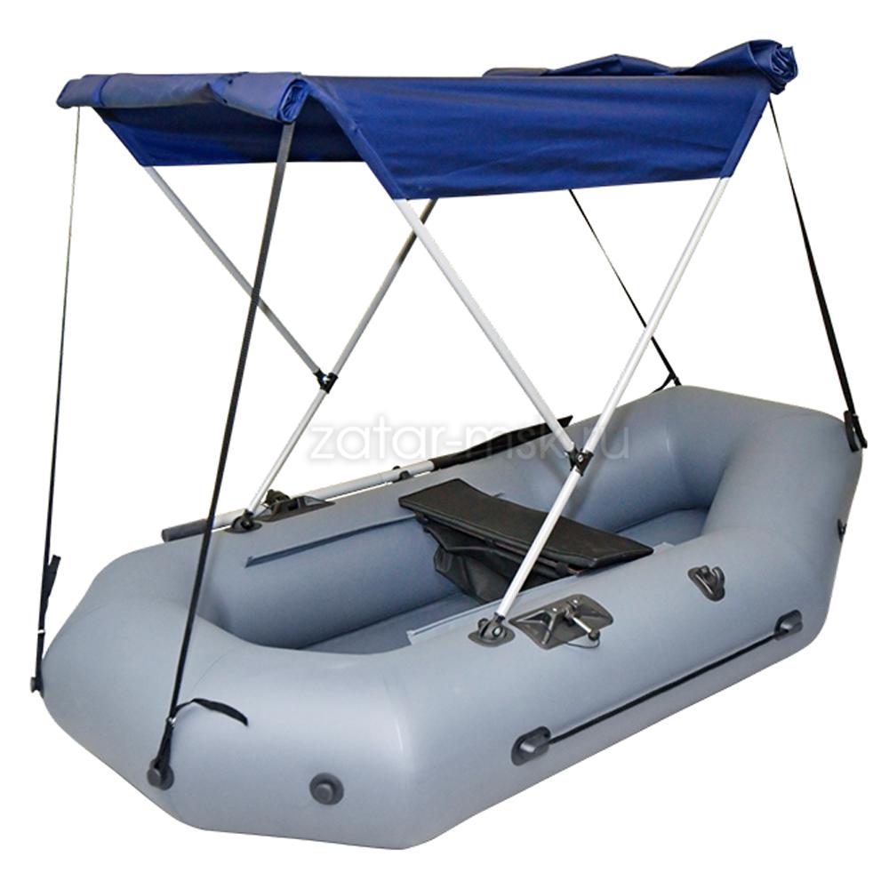 Тент на лодку 240-260 Мостик №1.4 Синий