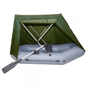 Тент на лодку 220-260 Палатка №1.4 Зеленый камуфляж