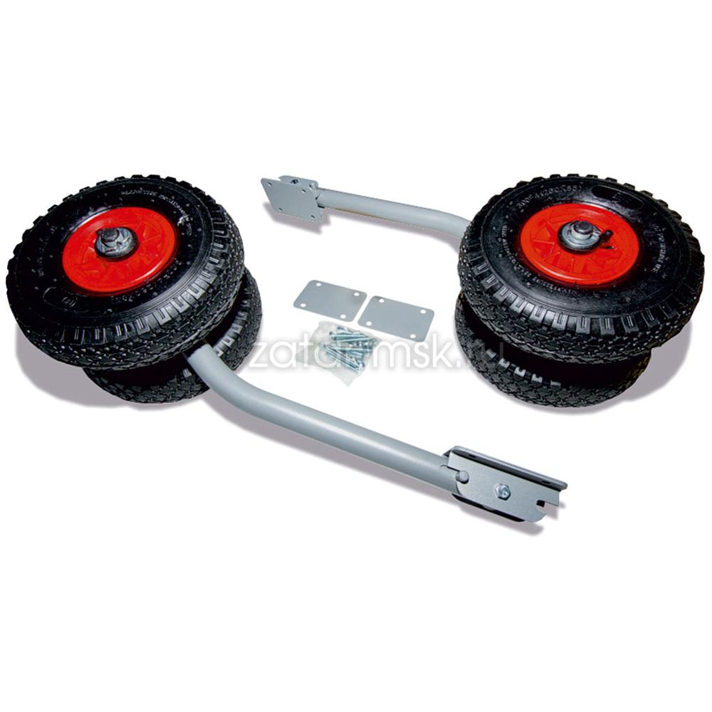 Транцевые колеса №1.4, двойные удлиненные, трансформер, откидные