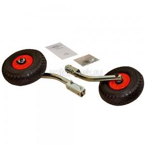 Транцевые колеса №1.4, оцинкованные, быстросъемные + сумка