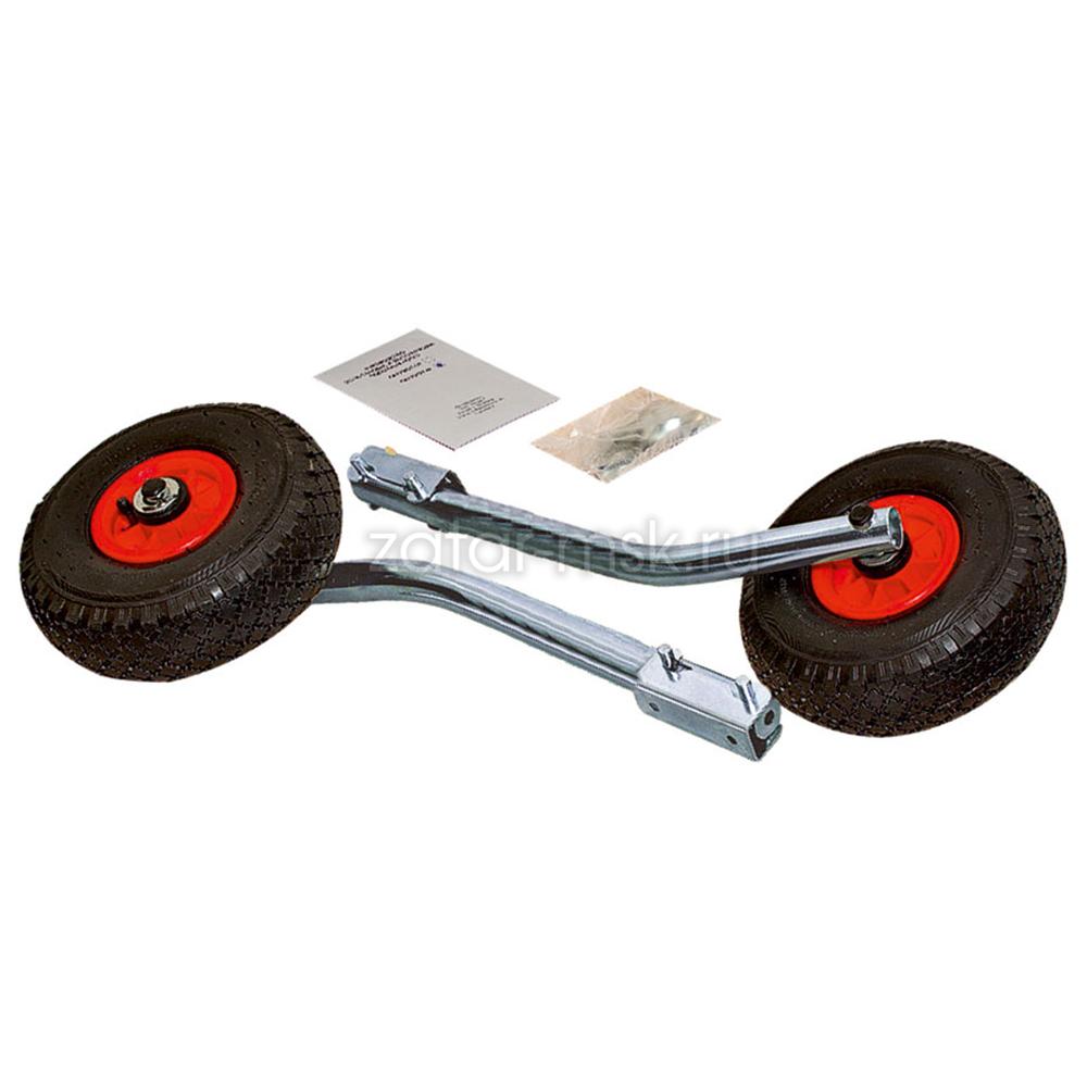 Транцевые колеса №1.4, оцинкованные, удлиненные, быстросъемные + сумка