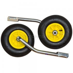 Транцевые колеса №1.4, оцинкованные, удлиненные, быстросъемные 330