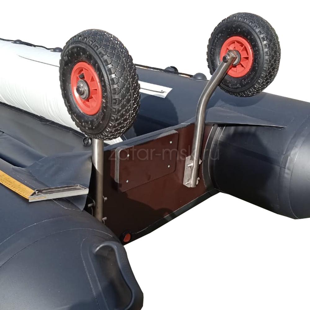 Транцевые колеса №1.4, удлиненные, нержавеющие, быстросъемные