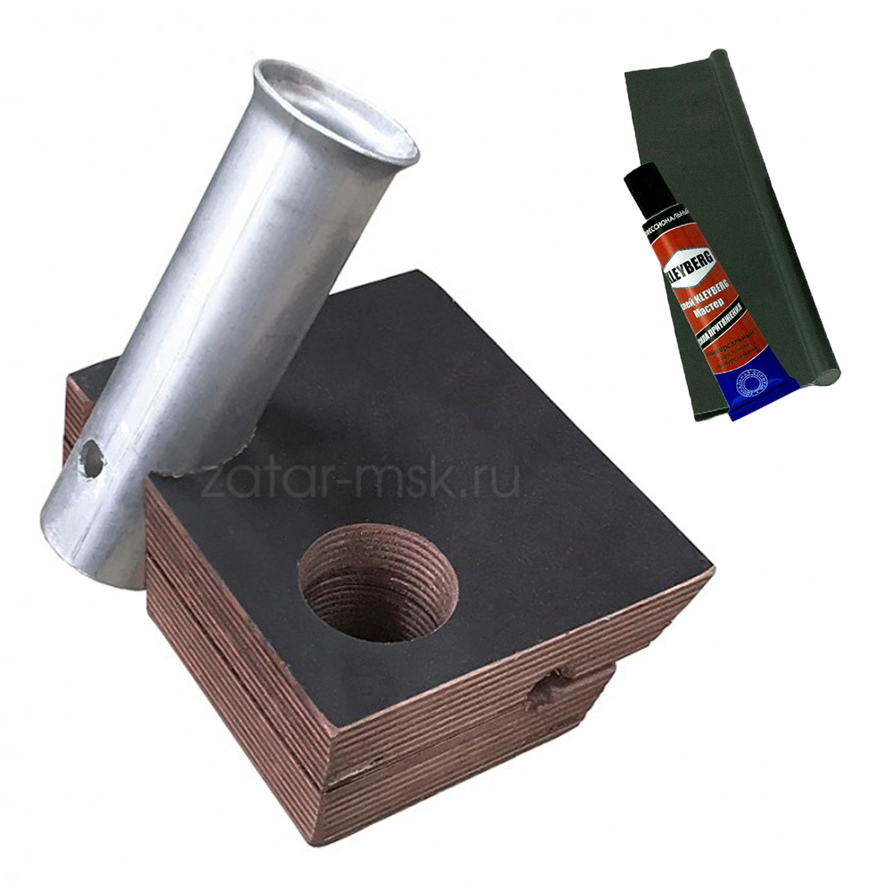 Универсальный крепежный блок №1.5 2-х спиннингов + ликтрос, клей