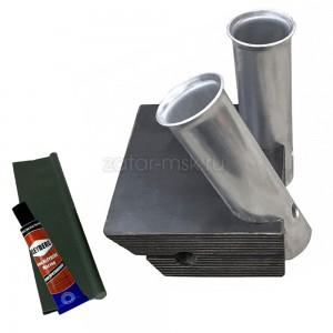 Универсальный крепежный блок №1.5 2-х спиннингов, 40мм + ликтрос, клей