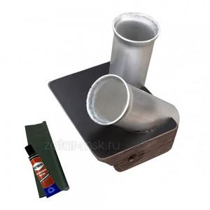 Универсальный крепежный блок №1.5 2-х спиннингов, 50мм + ликтрос, клей