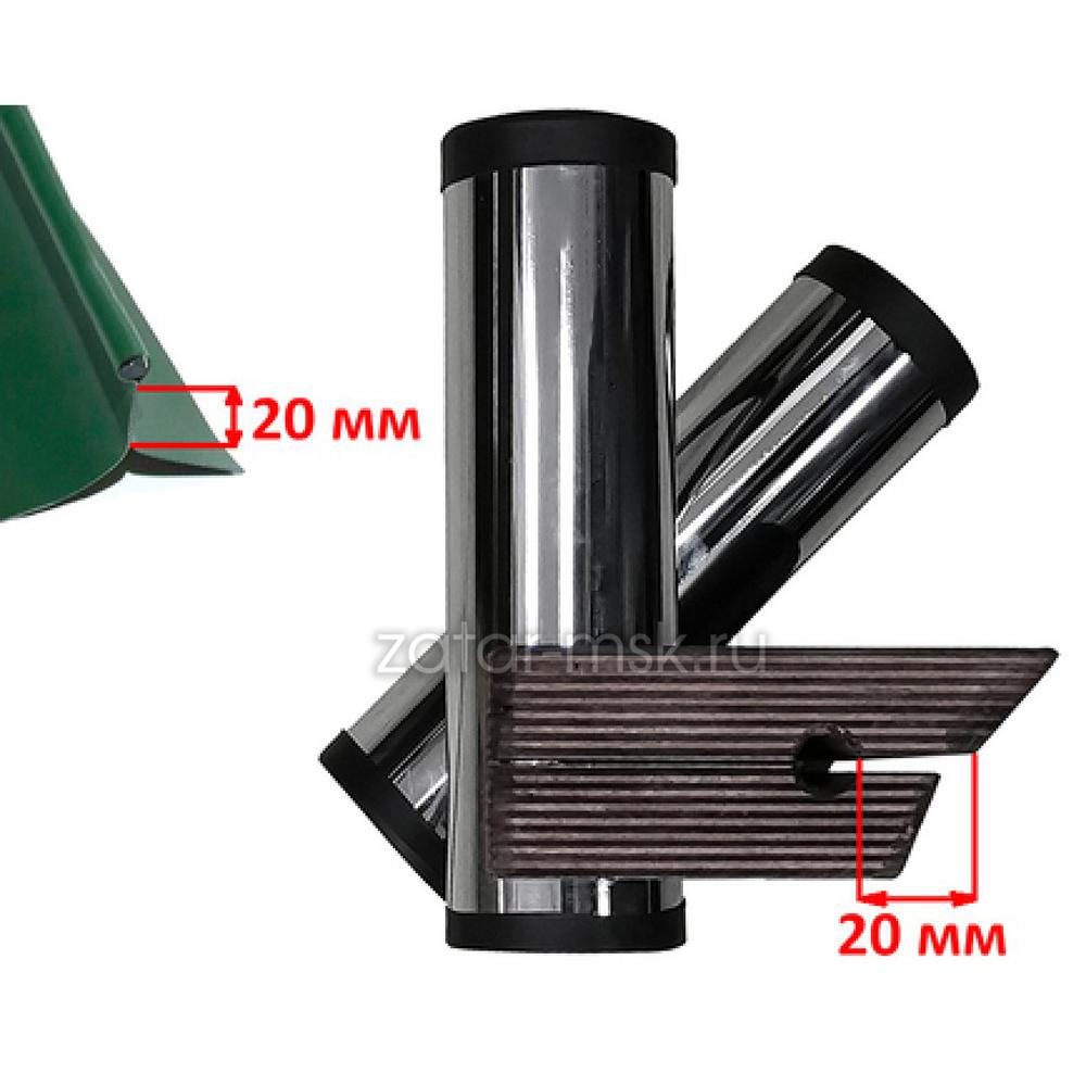 Универсальный крепежный блок №1.5 2-х спиннингов, хром 50мм + ликтрос, клей