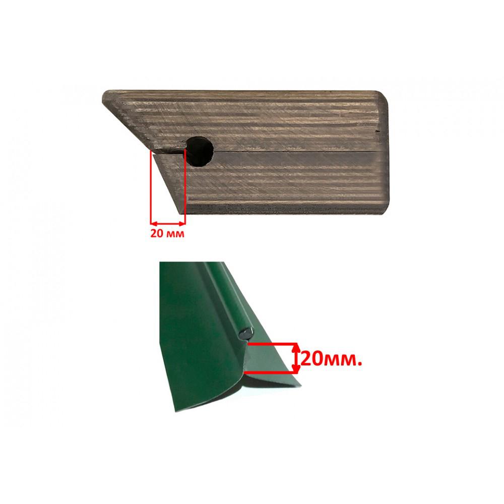 Универсальный крепежный блок №1.5 для 2-х спиннингов + ликтрос, клей