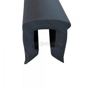 Привальный брус П образный для катера, №1.1, черный