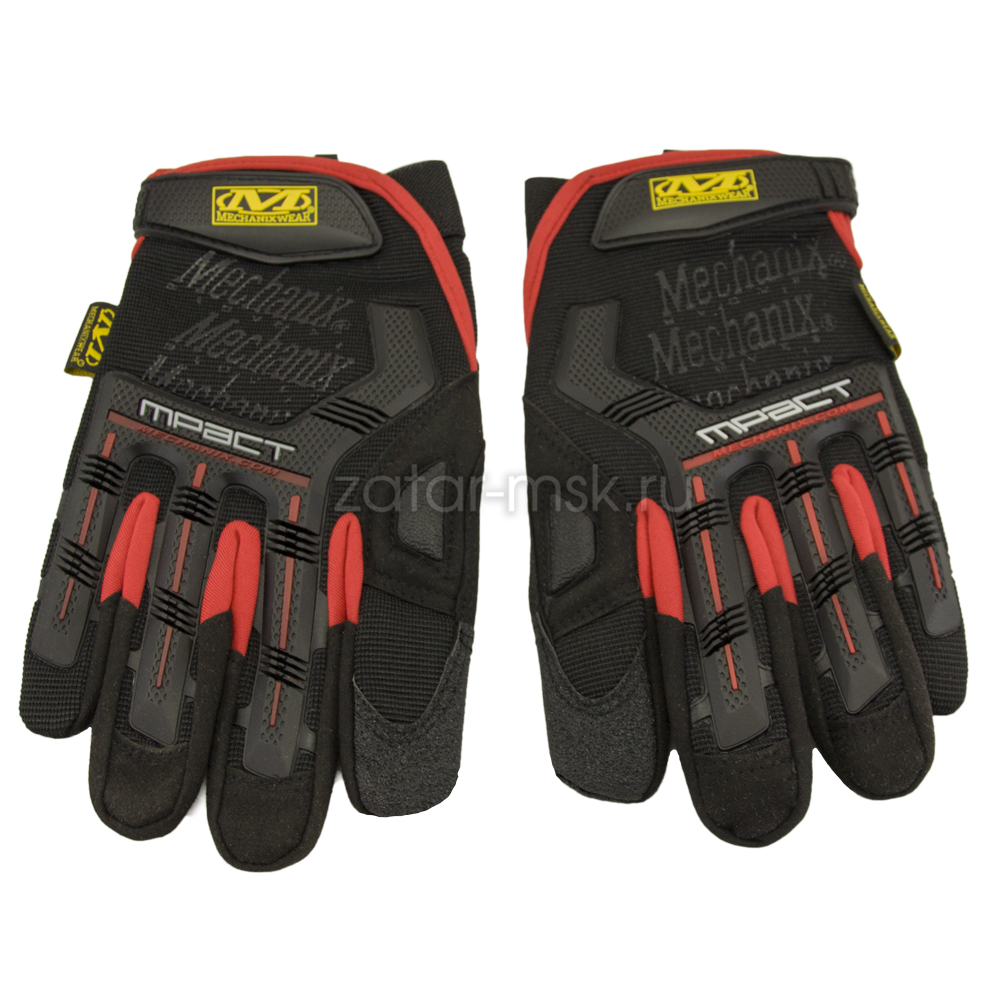 Перчатки Mechanix black red M-Pact MPT-72-008