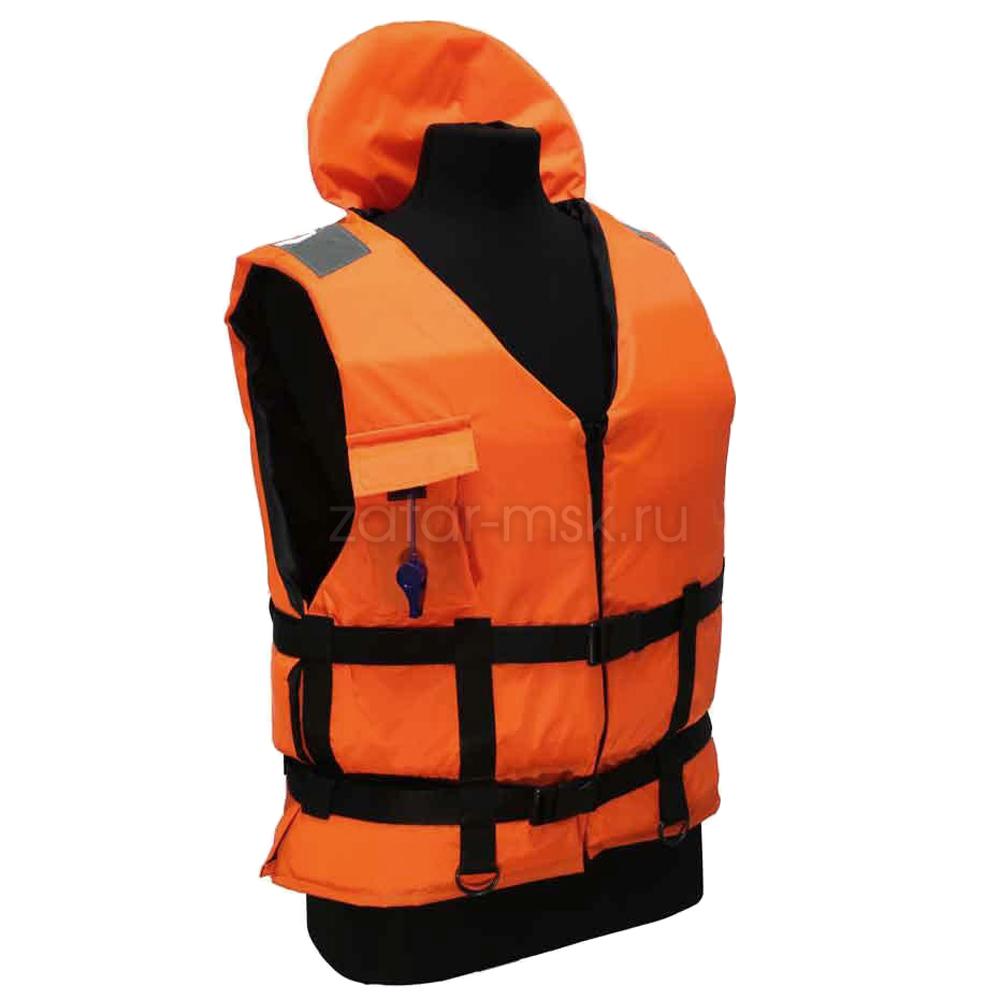 Жилет спасательный 80-140кг речной универсальный, для лодки